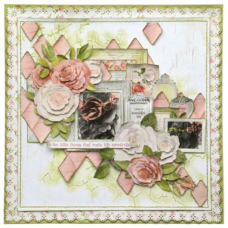 Layout designed for the Merly Impressions Retreat July 2016, using Cottage Rose Kaisercraft collection.