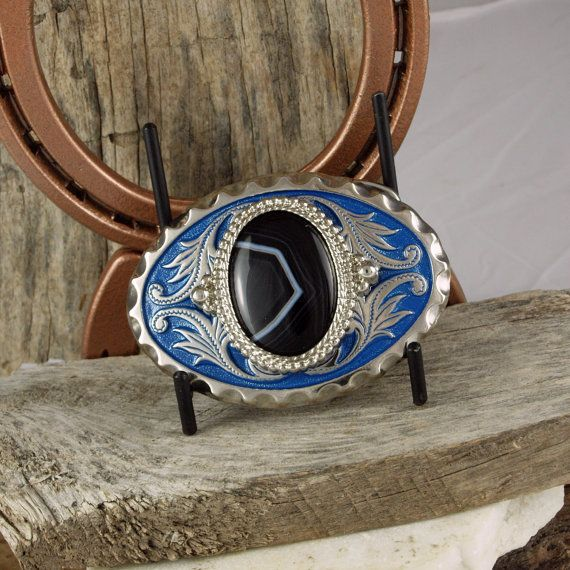 Western Belt Buckle Natural Stone Belt Buckle by CJsRocksGems