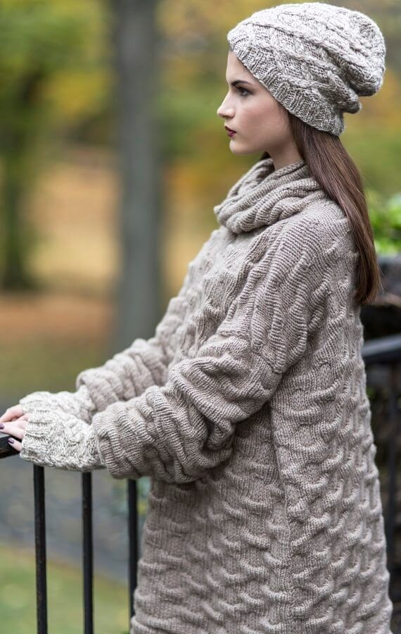 Shar Pei High-Neck Sweater HANIA by Anya Cole Fall 2016