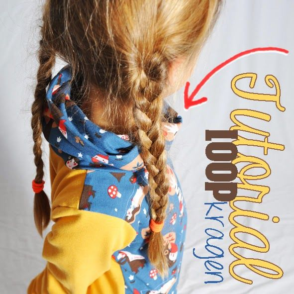 Anleitung um an ein Shirt /Pullover einen Loop kragen / Rollkragen zu nähen I leni pepunkt: Adventskalender - Türchen #19 - Tutorial KAPUZIERT ohne Kapuze...