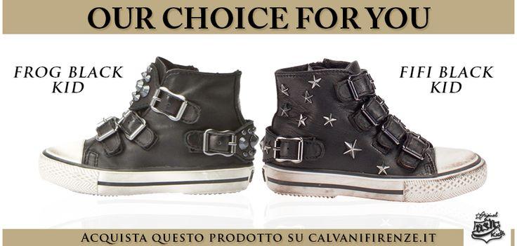 Per #bambini #sportivi ma allo stesso tempo #trendy #Ash propone le #sneakers Frog Black e Fifi Black!
