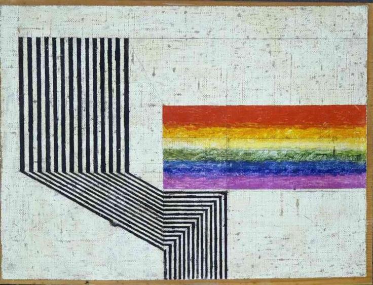 Osvaldo Licini, Rhythm, 1932 - Museo d'Arte Contemporanea di Villa Croce, Genoa on show in exhibition at Estorick Collection of Modern Italian Art - In Astratto: Abstraction in Italy 1930-1980
