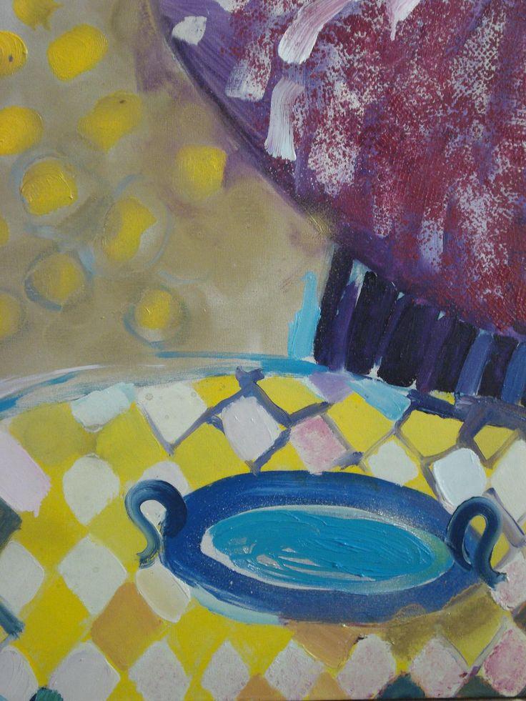 Żółty, olej na płótnie, 60x50
