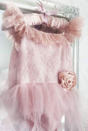 Kryssi Kouture Romantic Everly Lace Dusty Rose Tutu Romper – Ruffles & Bowties Bowtique