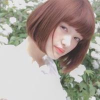 アンニュイガールへ明るめピンクベージュの髪色で幸せ気分