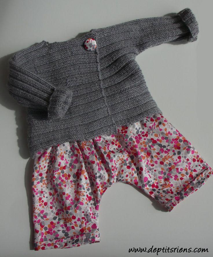 brassière à côtes plates - la droguerie marie claire idées n°54 - septembre 2004 phildar pure laine merinos 2008 couleur flanelle aiguilles ...