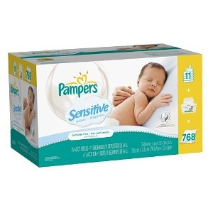 BABY Pampers Sensitive Wipes, 64-Count Multipack with Tub: Diapers Care, Diapers Baby, Baby Skin, Pampered Sensitive, Personalized Care, Counted Packs, Baby Wipes, 64 Counted Multipack, 768 Totally