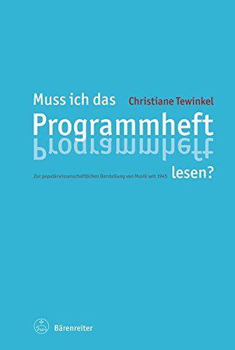 Welche Bedeutung hat Wissen über Musik für den Konzertbesuch? Christiane Tewinkel diskutiert am Beispiel von Musikeinführungen und Programmheften der Berliner und Münchner Philharmoniker die historische...