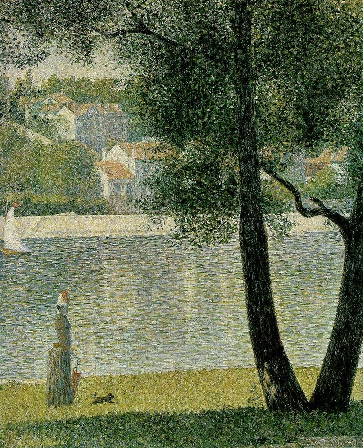La Seine A Courbevoie, 1885, #GeorgesPierreSeurat. French Pointillist Painter (1859-1891) #DonneInArte
