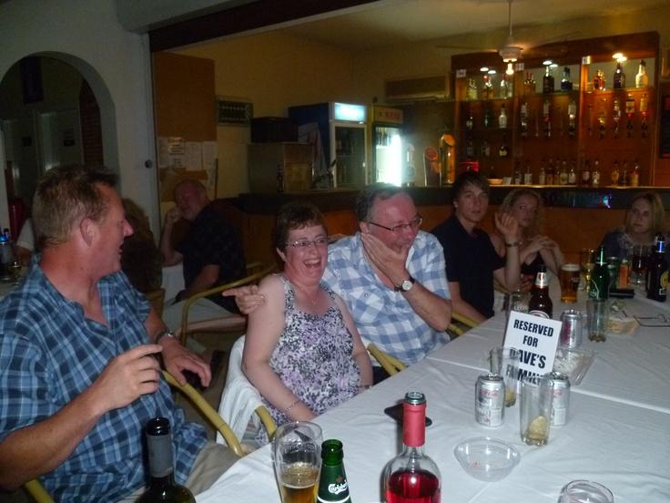 Ian drinking Keo (and later Carlsberg) in Oroklini, Cyprus