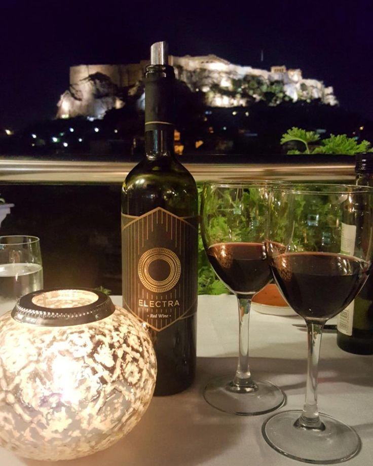 Roof top dinner and acropolis view #athens #greece #acropolis #honeymoon #justmarried #stayklassy