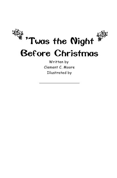 illustrate 'twas the night before Christmas