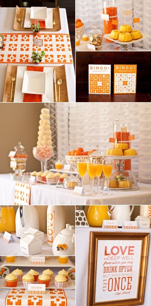 Brunch wedding reception ideas