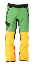 686 Authentic Rover Mens Snowboard Snow Ski Pants Rasta Green Red XXL