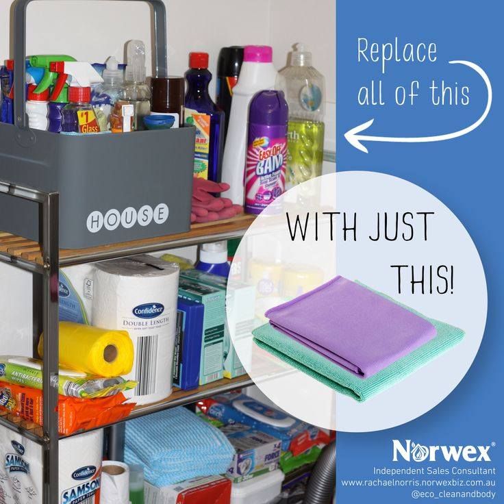 Get rid of the chemicals...replace all of these cleaners with just Norwex and water, and save time, money, your health and the environment - Norwex Australia