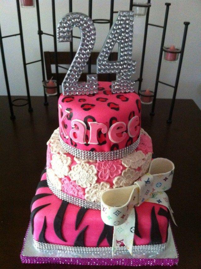 Amazing 23 Pretty Photo Of 24Th Birthday Cake 24Th Birthday Cake Cake Funny Birthday Cards Online Kookostrdamsfinfo