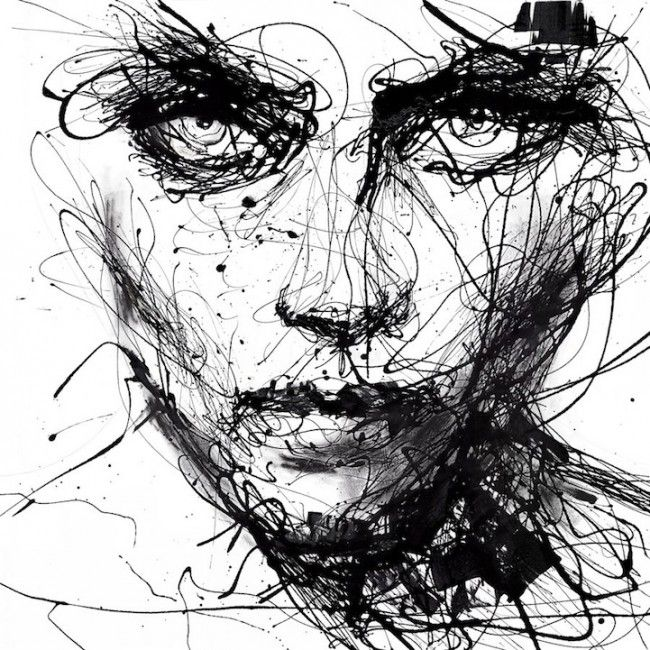 Powerful Dripping Paint Portraits by Agnes-Cecile » Design You Trust. Design, Culture & Society.