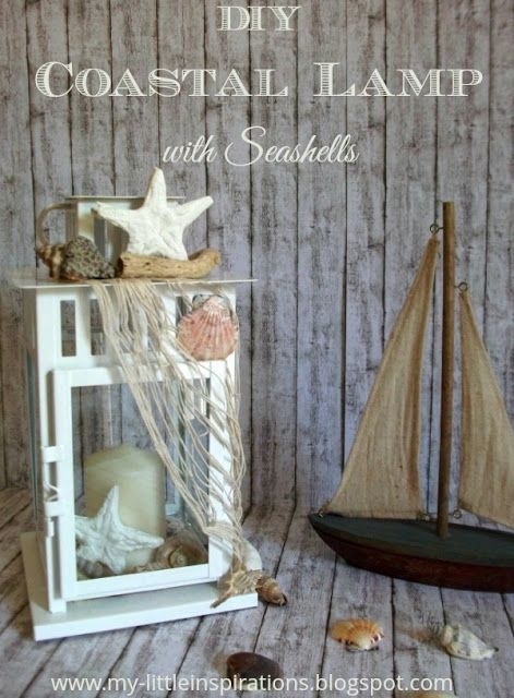 Coastal Lamp with seashells tutorial - Tutorial Lanterna DIY in Stile Coastal con Conchiglie - MLI #thecreativefactory #handmadesummernights2017