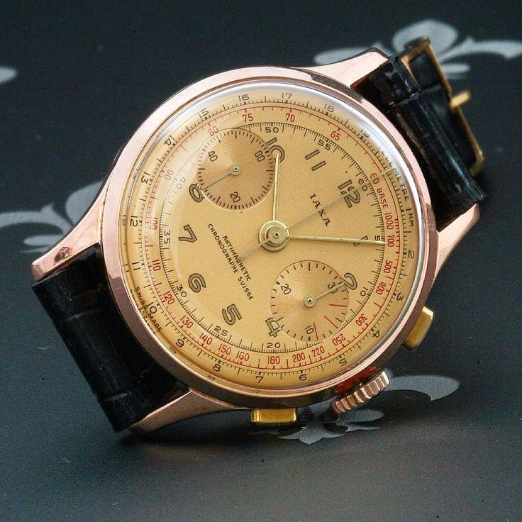 proessionally restored iaxa swiss vintage chronograph