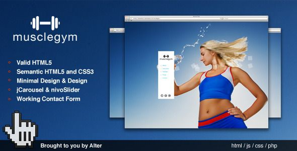 Musclegym - Minimal HTML5 - CSS3 Fitness Template