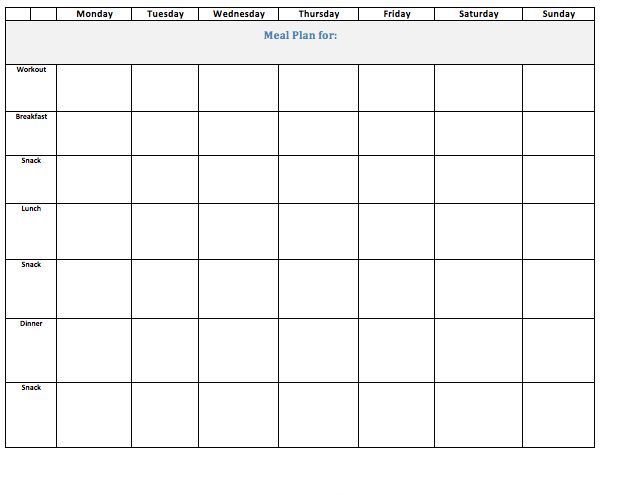 diet and exercise template