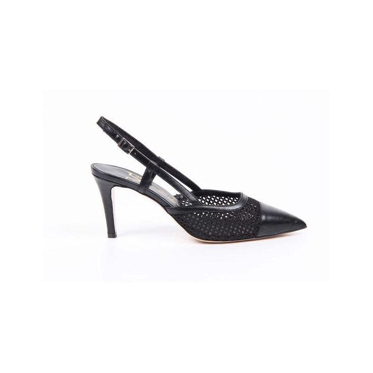 Versace Women's Slingback Stiletto Sandals BLACK #Versace #Slingbacks #SpecialOccasion