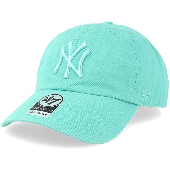 ec026753ef1 Shop New York Yankees Clean Up Tiffany Blue Adjustable - 47 Brand caps from  Hatstoreworld.com. We are a 100% addicted headwear store for hats   caps ...