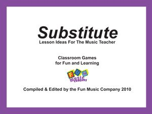 music games for a substitute or the regular music classroom.  Download for free!