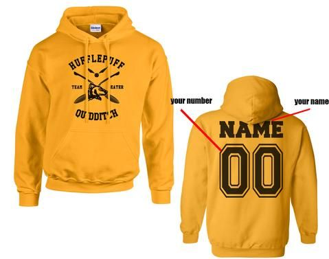 b43f89f1 Customize - New Hufflepuff BEATER Quidditch Team Unisex Pullover Hoodie Gold