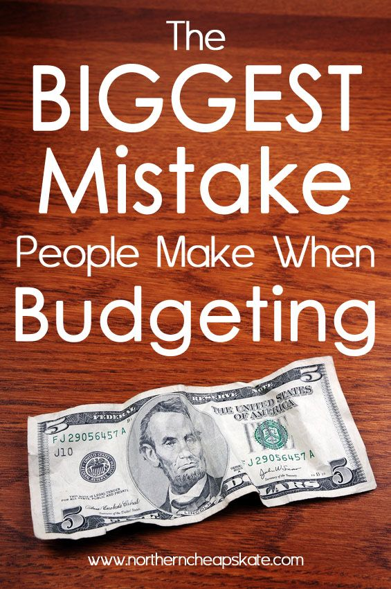 The concept of budgeting is simple: Make a plan for your money and stick to it. But there's one BIG mistake a lot of people make that can cost you money. #frugal #budgeting #debt: