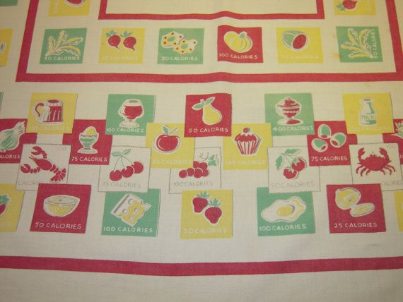 Vintage Tablecloth Fun Calorie Counting