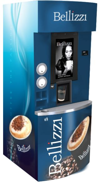 Our bespoke coffee towers have everything you need to offer the ultimate consumer beverage experience. Clients have the option to create their own brand and add a personal touch without compromising quality or from a choice of brand partners such as Kimbo and Nestle or our own Bellizzi. The 21.5 inch HD touch-screen has large easy to use menu icons, once you make your selection you can personalize your beverage to just the way you like it.