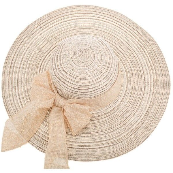 Womens Fascinator Casual Travel Sun Cap Bow Wide Brim Large Folding... ($12) ❤ liked on Polyvore featuring accessories, hats, wide brim hat, hair fascinators, floppy beach hat, straw beach hat and cap hats