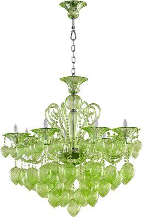cyan design bella vetro 3475 8 light green glass chandelier in chrome