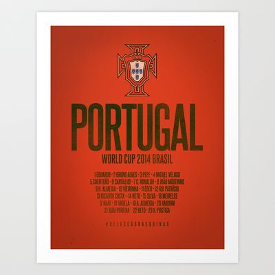 Portugal World Cup 2014 Celebrative Artwork Art Print by The Soccer Supply