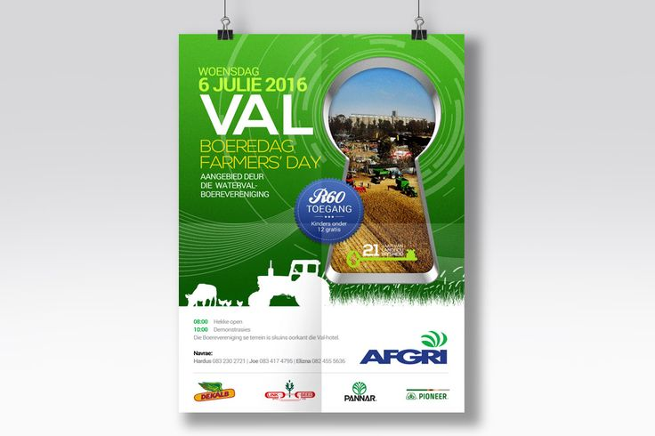Poster design for Val Farmer's Day for client Afgri.