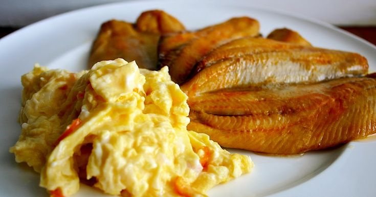 Robson of Craster Kippers with scrambled eggs ... perfect British Breakfast!