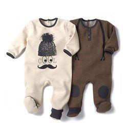 Pyjama à pieds en molleton (lot de 2) R baby