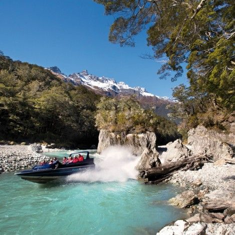 Jet boating was invented in New Zealand. It's a fantastic way to explore stunning scenery and get a thrill at the same time.