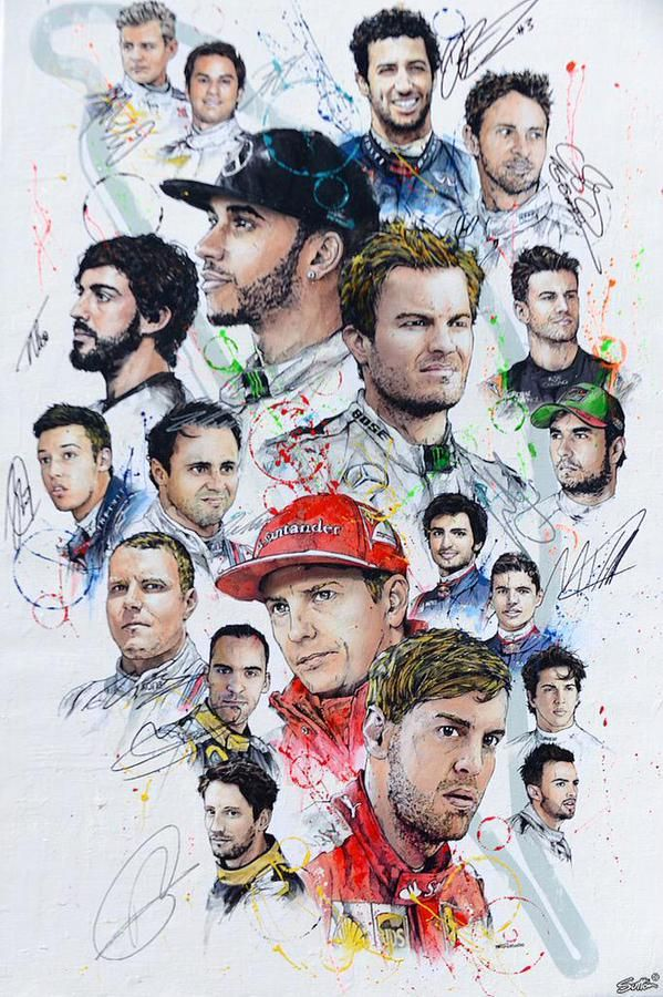 #F1 Pilots have been signing this art work at the 2015 Canada GP