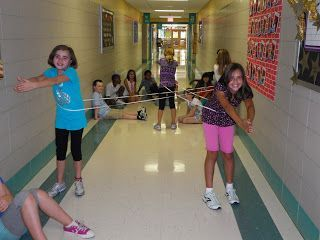 Great kinesthetic activity to reinforce learning about, polygons, parallel lines, obtuse angles, etc.