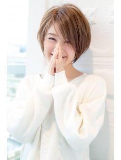 ガーデントウキョウ(GARDEN Tokyo) 【GARDEN】グレージュ×スポンテニアス×ショートマッシュボブ