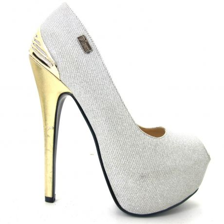 """Dazzle with a pair of """"Diva's"""" in Ice White by Plum Footwear."""