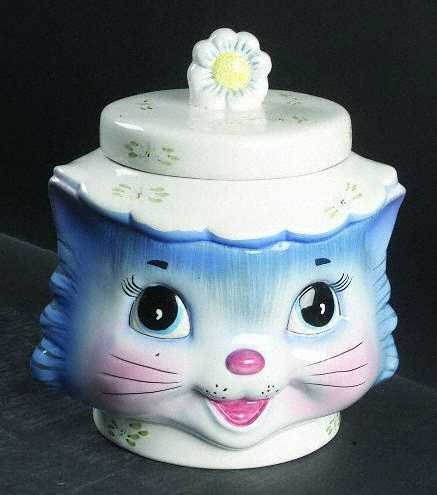 Miss Priss Kitty Cookie Jar.  Cookie jar history took a giant leap in 1929, when the the Brush Pottery Company of Zanesville, Ohio introduced what is commonly believed to be first ceramic cookie jar.