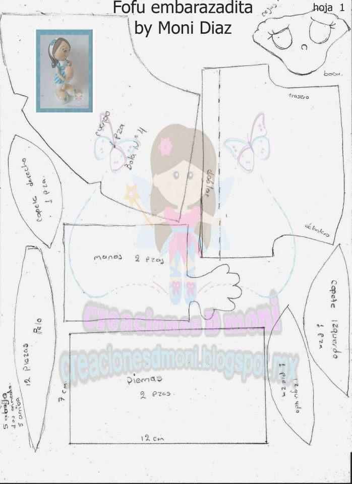 Fofucha Embarazada | Patrones Fofuchas