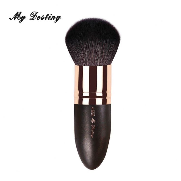 MY DESTINY Goat Hair Round Powder Brush Kabuki Make Up Makeup Brushes Pincel Maquiagem Brochas Maquillaje Make Up Kwasten 006 #Affiliate