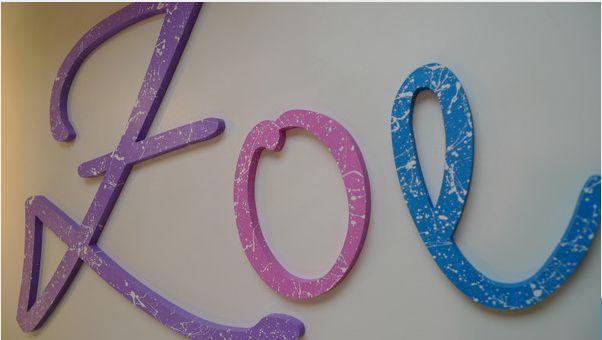 Wandtattoos - Holzbuchstaben ★ DIY ★ Kreativ-Set - ein Designerstück von abc_ABC bei DaWanda