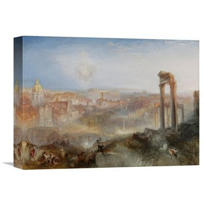 Global Gallery 'Modern Rome - Campo Vaccino' by Joseph Mallord William Turner Painting Print on Wrapped Canvas Size: