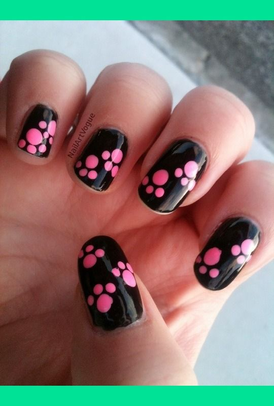 Best 25 paw print nails ideas on pinterest animal nail designs nav animal paw print nail dotting tutorial ally es nailartvogue prinsesfo Image collections