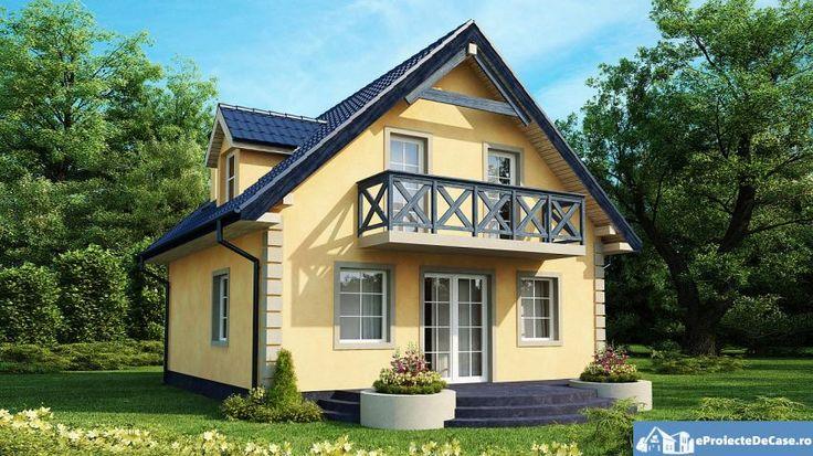 proiecte de case cu mansarda cu patru camere Four room attic house plans